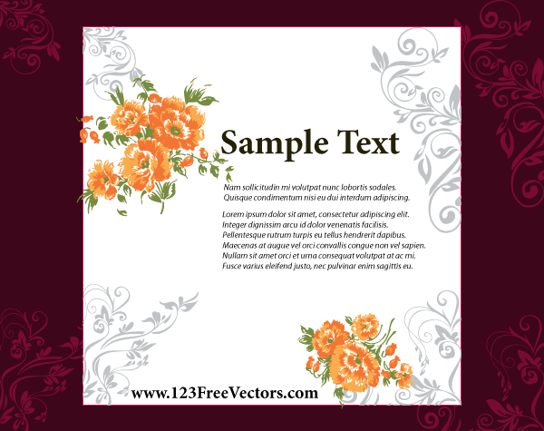 Free download of Wedding Invitation Card Design Vector Graphic