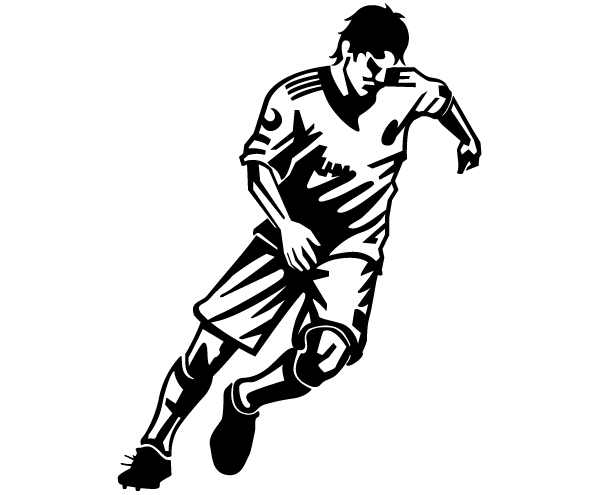 Free Download Of Soccer Player Vector Image Vector Graphic Vector Me
