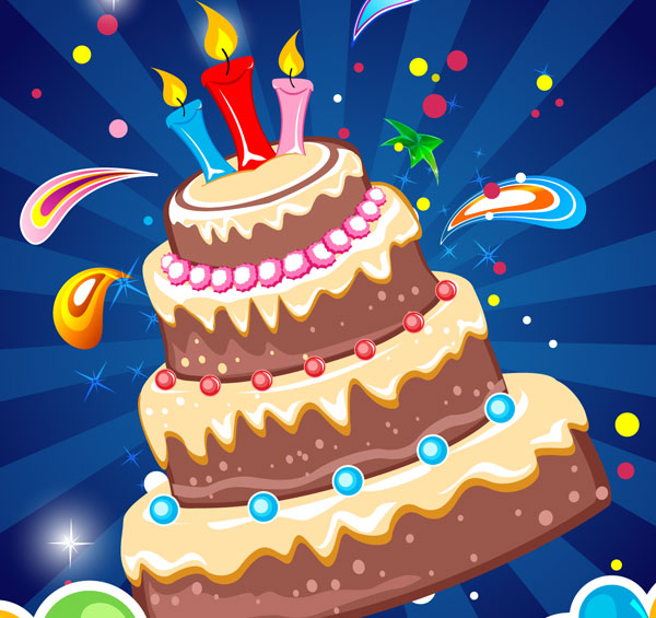 Free Download Of Birthday Card Design Vector Graphics And Illustrations