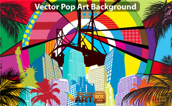 free download of free pop art background vector vector graphic