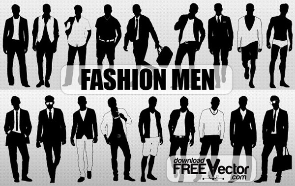 Free Download Of Men Fashion Silhouette Vector Free Vector Graphic