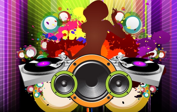 Vector party poster vector free vector graphics for Pop house music