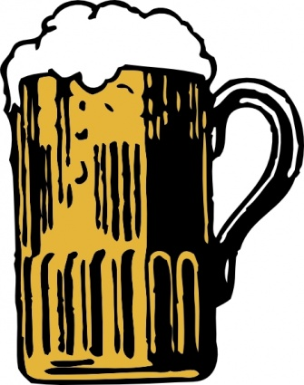 foamy mug of beer clip art vector free vector graphics vector me rh vector me