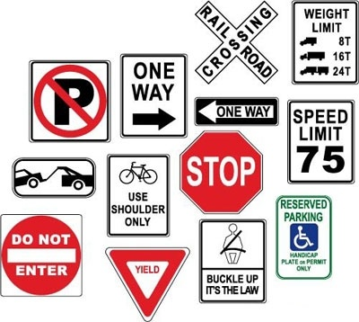 Free Download Of Warning Danger Road Signs Vector Graphic Vector
