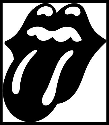 the rolling stones tongue logo, free vector logos - vector