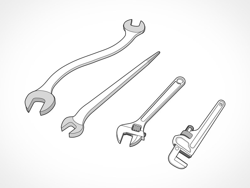 Open End Wrench Drawing | Free Download Printable Math Worksheets ...