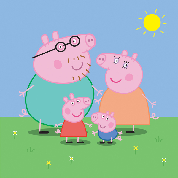 Free Download Of Peppa Pig Family Vector Graphic Vector Me