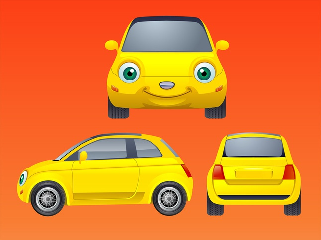 Free download of smiling car vector graphic vector cartoon malvernweather Image collections