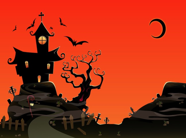 Free download of haunted house vector graphic - Cartoon haunted house pics ...