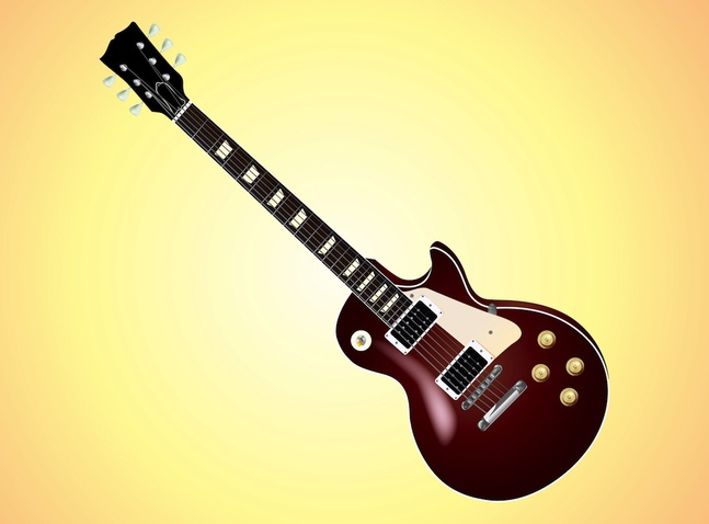 free download of electric guitar vector graphic. Black Bedroom Furniture Sets. Home Design Ideas