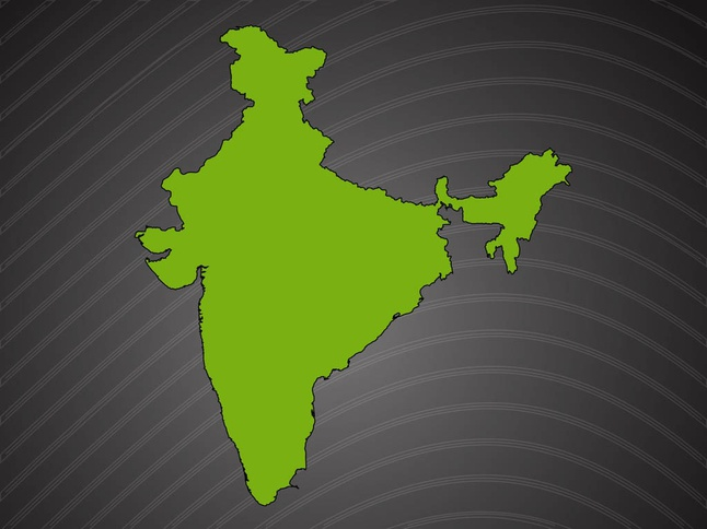 India Vector Map Vector Free Vector Images Vectorme - India map vector