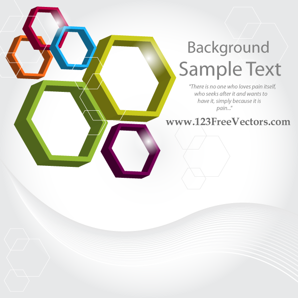 Free Download Of Abstract 3d Hexagon Vector Background Vector