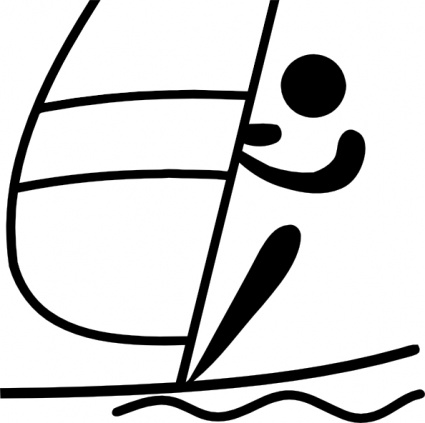 Free Download Of Olympic Sports Sailing Pictogram Clip Art Vector